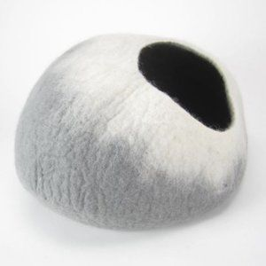 Gray and White Cat Cave | Pet Bed